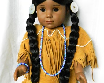 Native American Doll Jewelry 18 inch Doll Necklace Bracelet American Doll Mixed Color Beads KayaDoll Jewelry