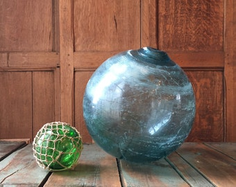 LARGE Glass Fishing Float, Japanese Fishing Float, Nautical Decor, Beach Decor, Fishing Decor