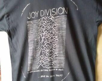 B STOCK JOY DIVISION Ian Curtis Hand Painted Custom Pop Art Retro Rock Vintage Style Music T-shirt