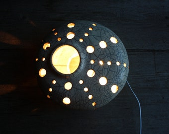 Raku ceramic lamp white  - Design lamp - Table lamp