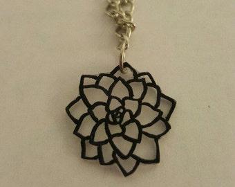 Transparent Succulent Necklace