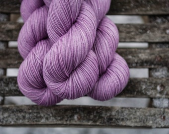 Rose Hand Dyed  Merino and Cashmere  Fingering Weight Yarn