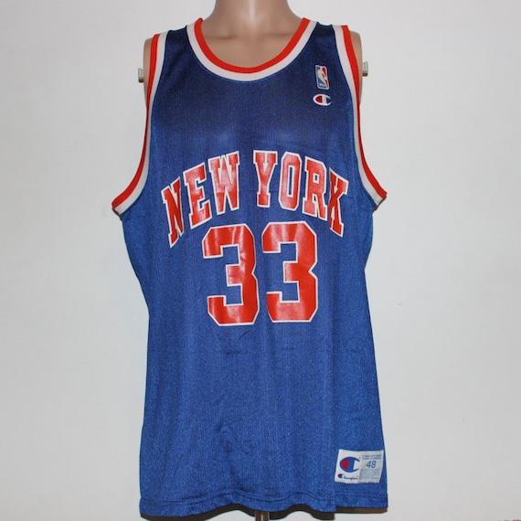 f0e30c80a ... Patrick Ewing Knicks Jersey: Vintage New York Knicks Patrick Ewing  Champion NBA Jersey 48