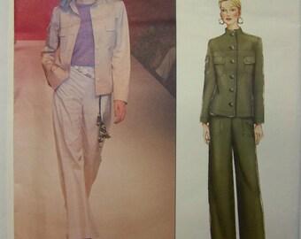 UNcut 2000 Vogue Paris Original 2410 YVES SAINT LAURENT Jacket & Pants Pattern sz 14-16-18