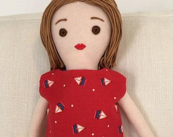 One-of-a-kind handmade cloth doll: Suzetta