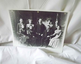 Black And White Family Portrait Studio Photo Family Sitting Victorian Picture Old Photography Edwardian Era Parents And Children