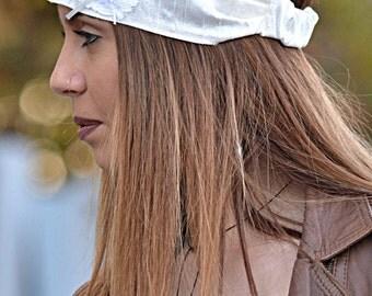 Silk Headband, Ivory Headband, Bridesmaid Headband, Wedding Headbands, Wide Headband, Womens Turban, Turban Headband, Womens Headband, Gifts