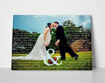 First dance lyrics, first dance song, first wedding song, wedding lyrics canvas, custom lyrics print, first dance print, lyrics canvas art