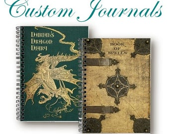 CUSTOM TAROT JOURNALS - Made To Order - Grimoires, Diaries, Tarot Journals, Spellbooks, Book of Shadows