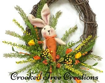 Spring Wreath, Easter Wreath, Bunny Wreath, Spring Wreaths, Spring Floral, Spring Décor, Easter Décor, Bunny, Woodland Wreath, Garden Wreath