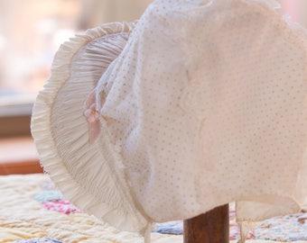Vintage Baby Bonnet, 1950's Fancy Baby Bonnet