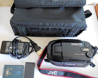 JVC GR-AXM368E Compact Camcorder VHS Video8 Camera Recorder, made in Japan
