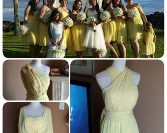 Chiffon convertible dress, convertible bridesmaid dress, infinity bridesmaid dress