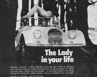 Morgan Vintage Car Print 1972, Advertising Wall Art