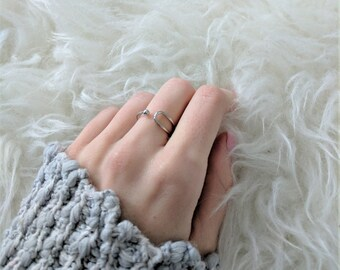 Dainty Silver Ring | Adjustable Ring | Minimal Ring | Silver Ring | Women's Gift | Friendship Ring | One Size Ring |