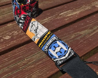 "Guitar Strap in ""Glow In The 'Dark Side' Star Wars"" Fabric"