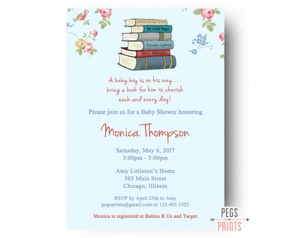 Storybook baby shower invitation printable book baby shower il570xn filmwisefo Images