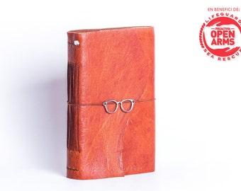 Handmade solidarity notebook with deer skin