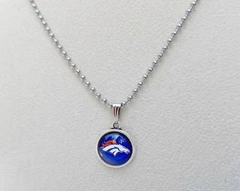 Denver Broncos, Denver Broncos Jewelry, Denver Broncos Necklace, Football Mom, Pro Football, Broncos Fan, Broncos Football, Broncos Bling