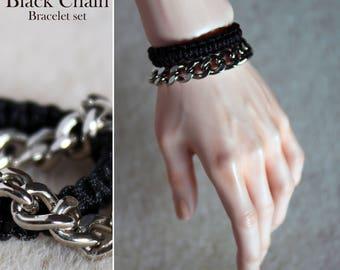 Black Chain Bracelet set for BJD