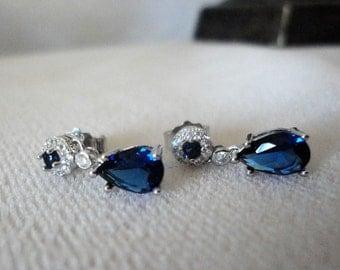 Exquisite Blue Sapphire DiamondAura Earrings*******.