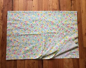 Vintage Floral Sheet Curtain