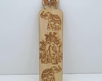 Ornate Elephant Bookmark - Variety Of Colours
