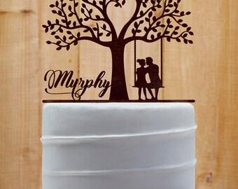 Customized Wedding Cake Topper, Personalized Cake Topper for Wedding, Custom Personalized Wedding Cake Topper, Last Name Cake Topper - 02