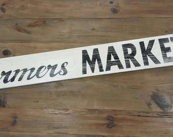 Wood Sign - Farmers Market sign - Kitchen Sign - Fixer Upper style