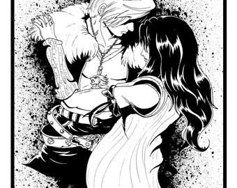 Squall and Rinoa Final Fantasy VIII
