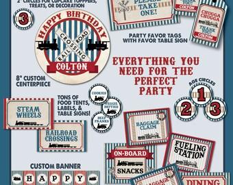 Train Party Printables. Train Birthday Printables. Train Party Decorations. Train Birthday Decorations. Train Party Decor.
