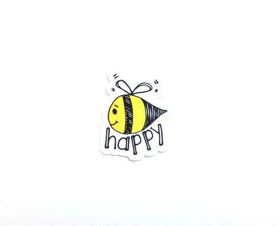 Bee Happy Stickers