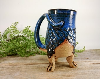 Dragon Creature Cup 20 oz - Unique Pottery Mug - Dragon Gift Him - Book Lover Gift - Large Mug For Coffee - Office Mug - Mesiree Ceramics