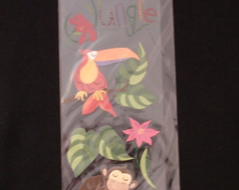 A Touch Of Jolees- Monkey Toucan-Jungle Animals-5 Dimensional Stickers-Brand New