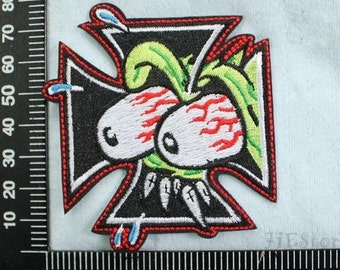Eyeball Embroidery Patches Tales of the Rat Fink Iron on Patch Punk Applique CD121