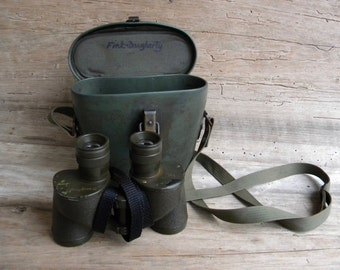 Vintage WWII Military Binoculars with Case / Westinghouse 1942 HMR / M3 6x30 / Military Green / Fully Functional Military Binoculars