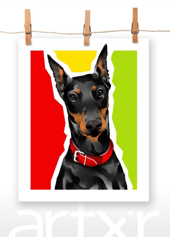 DOBBIE / The PET PROJECT / Doberman Pinscher / Fine Art Print / Various Sizes