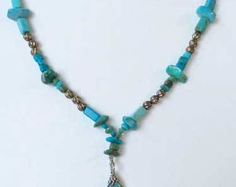 Impressive 'Turquoise' Nuggets Necklace