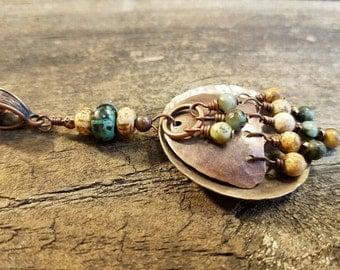 Metal Necklace, Copper Necklace, Handmade Necklace, Boho Necklace, Southwestern Necklace