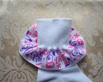 Girls Ruffled Socks - Diva