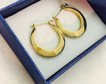 Vintage 14K Gold Hoop Earrings - 2.1 Grams