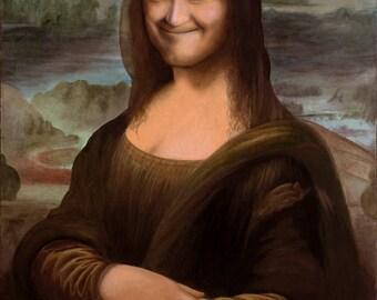 Stan Laurel as Mona Lisa art print