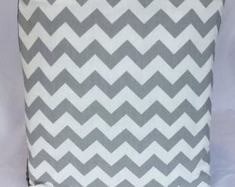 Handmade Pillow Blanket Quillow Gray & White Chevron