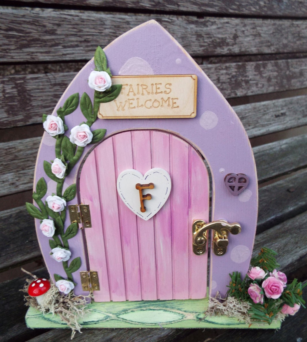 Wooden fairy door free standing hand painted custom made for Fairy doors au