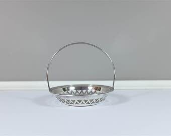 Vintage BIRKS silver basket - Silver plate Birks Trinket Tray - Retro Birks ring holder - Silver candy dish - Retro candy dish