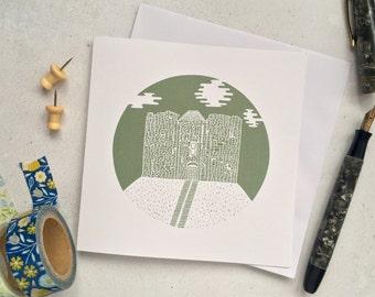 Cliffords Tower card – York architecture –wedding card – anniversary card –York landmark – Housewarming card –Bon voyage – York keepsake