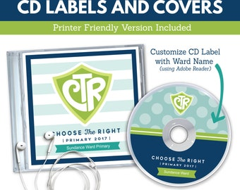 2017 LDS Primary CD Covers and Labels
