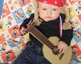 Willie Nelson Wig Hat Costume Size Newborn-Adult Country Music Dirty Blonde Braids You Were Always on My Mind Rock and Roll