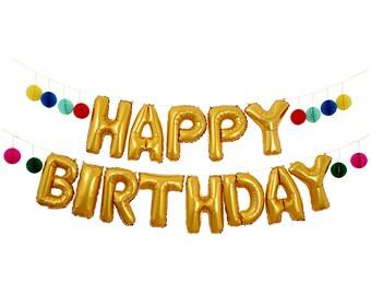 Large Happy Birthday Balloon Banner by Meri Meri