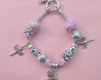 25- Whimsical Dragonfly European Style Charm Bracelet 1